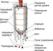 Цементный силос для навального цемента, стальной..